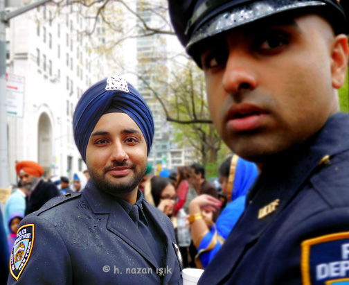 Cool Sikh Day Parade 2017 Nypd Officers Wearing Beard And Turban Hairstyles For Men Maxibearus
